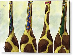 Giraffe Neckties Acrylic Print by Christy Beckwith