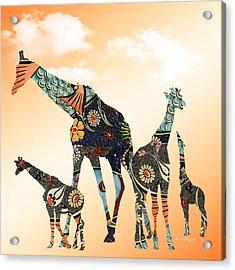 Giraffe Stroll Acrylic Print
