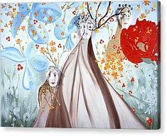 Giraffe Womens Acrylic Print by Sima Amid Wewetzer