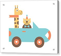 Animal Car Pool Acrylic Print