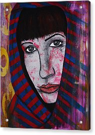 Acrylic Print featuring the painting Girl 11 by Josean Rivera