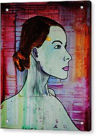 Acrylic Print featuring the painting Girl 15 by Josean Rivera