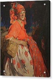 Girl Acrylic Print by Abram Arkhipov