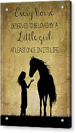 Girl And Horse Silhouette Acrylic Print