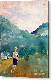 Girl At Murray Hollow Acrylic Print by Fred Jinkins