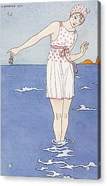 Girl At The Beach Acrylic Print by Georges Barbier