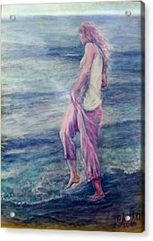 Girl At The Beach Acrylic Print