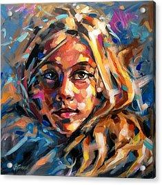 Girl Acrylic Print by Christine Karron