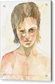 Girl Acrylic Print by Eugenia Picado