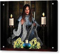 Girl Holding Candle Acrylic Print