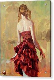 Girl In A Copper Dress II Acrylic Print