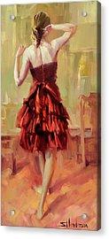 Girl In A Copper Dress IIi Acrylic Print