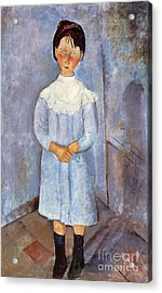 Girl In Blue, 1918 Acrylic Print