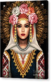 Girl In Bulgarian National Costume Acrylic Print by Stoyanka Ivanova