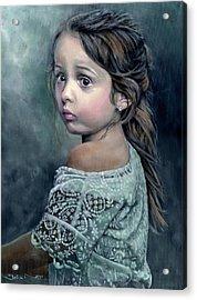 Girl In Lace Acrylic Print