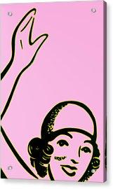 Girl In Pink Acrylic Print by John Gusky