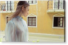 Girl In Profile Acrylic Print
