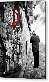 Acrylic Print featuring the photograph Girl In Red by Anthony Citro