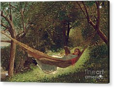 Girl In The Hammock Acrylic Print
