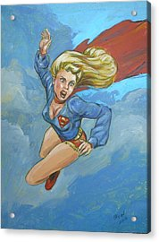 Girl Of Steel 1972 Acrylic Print by Bryan Bustard
