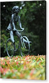 Girl On A Bicycle Acrylic Print by Jessica Rose