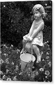 Acrylic Print featuring the photograph Girl On A Mushroom by Sandi OReilly