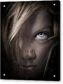 Girl Acrylic Print by Paul Neville