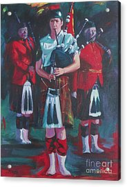 Girl Piper Acrylic Print