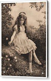 Girl Portrait Acrylic Print by Hans Wolfgang Muller Leg