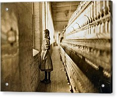 Girl Spinner 11 Years Old Rhodes Manufacturing Co Lincolnton 1908 Acrylic Print
