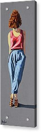 Girl Standing Acrylic Print