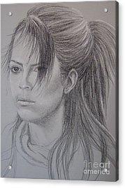 Girl With Attitude Acrylic Print