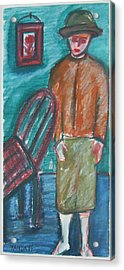 Girl With Chair Acrylic Print