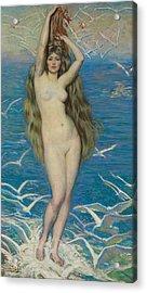 Girl With Gulls Acrylic Print
