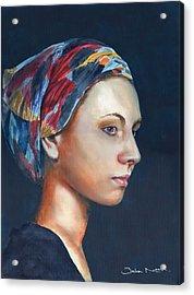 Girl With Headscarf Acrylic Print