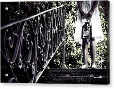 Girl With Oil Lamp Acrylic Print