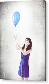 Girl With The Baloon Acrylic Print