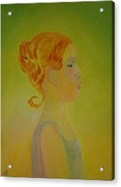 The Girl With The Curl Acrylic Print