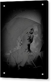 Girl With Umbrella Acrylic Print