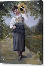 Girl With Water Jug Acrylic Print