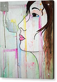 Acrylic Print featuring the painting Girl10 by Josean Rivera