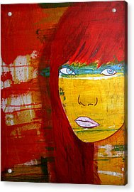 Acrylic Print featuring the painting Girl6 by Josean Rivera