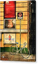 Girlfriend Bicycle Acrylic Print