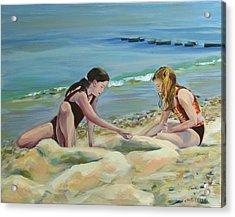Girls At Oak Bluffs Acrylic Print