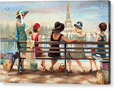 Acrylic Print featuring the painting Girls Day Out by Steve Henderson