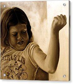 Girl's Lib Acrylic Print by Anni Adkins