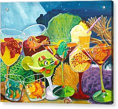 Girls Night Out At The Coral Rock Cafe Acrylic Print by Linda Kegley