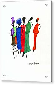 Girls Night Out Acrylic Print by Bee Jay