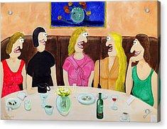 Girls Night Out Acrylic Print by Sal Marino
