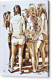 Girls Summer Fun Acrylic Print